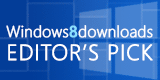 Windows 8 Downloads Editors Pick Award